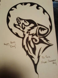 native american wolf design by HerHeartCrafts
