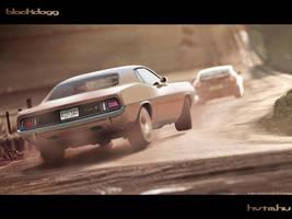 Plymouth Cuda by blackdoggdesign