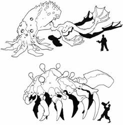 Cthulhoid monsters part 1 by Pachycrocuta