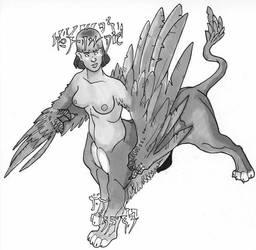 Celestial sphynx or lamia by Pachycrocuta