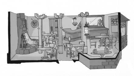 public house interior by Pachycrocuta