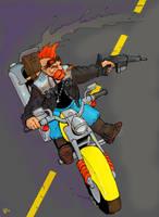 Dwarf biker by Pachycrocuta