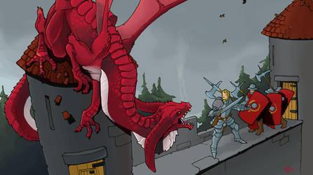Dragon landing by Pachycrocuta