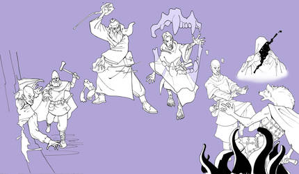 Spellcaster sketchdump by Pachycrocuta