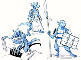 Kobold dungeon crew by Pachycrocuta