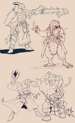 Dragonborn sketches by Pachycrocuta