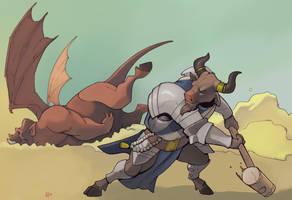 Minotaur paladin! by Pachycrocuta