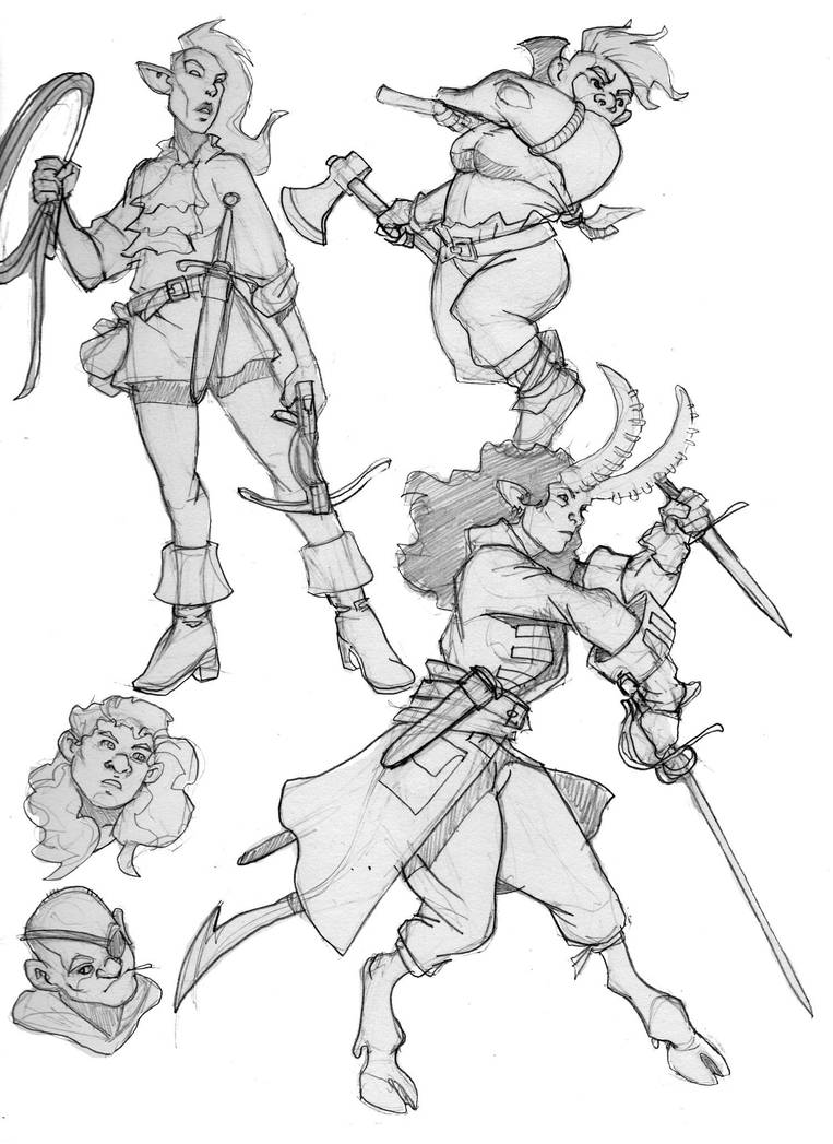 adventurer sketches by Pachycrocuta