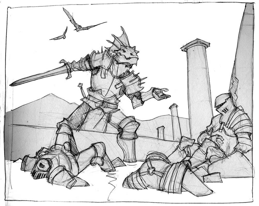 dragonborn antihero by Pachycrocuta