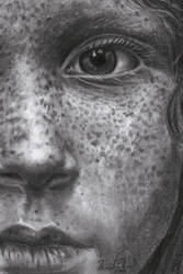 Girl with freckles by Pappa60