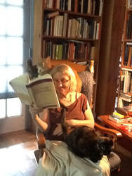 Reading With Cats by MissIzzy