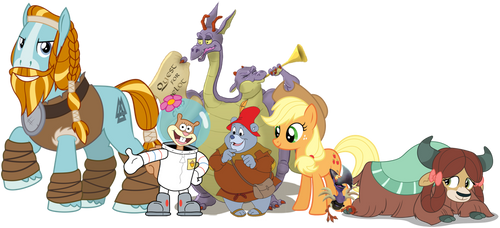 The Strong and Honesty heroes with closest friends by iamnater1225