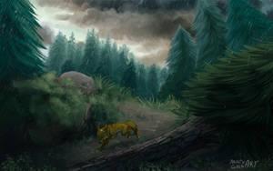 Summer rain by MistyGoldArt