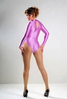 Hot woman in pink leotard and pantyhose 2 by JLAvenger2