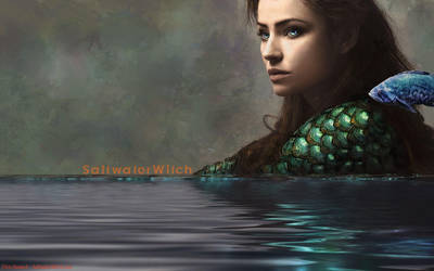 Saltwater Witch Wallpaper by the0phrastus