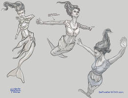 MermaidSketches ChrisHoward-SaltwaterWitch by the0phrastus