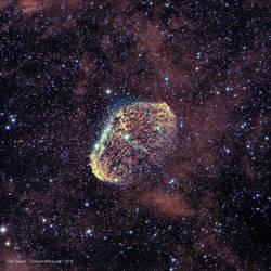 Crescent Nebula NGC6888  Ha-OIII by the0phrastus