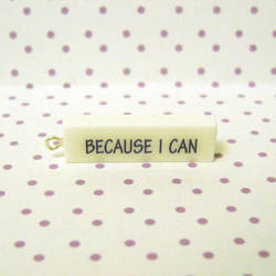Because I can pendant by coonies