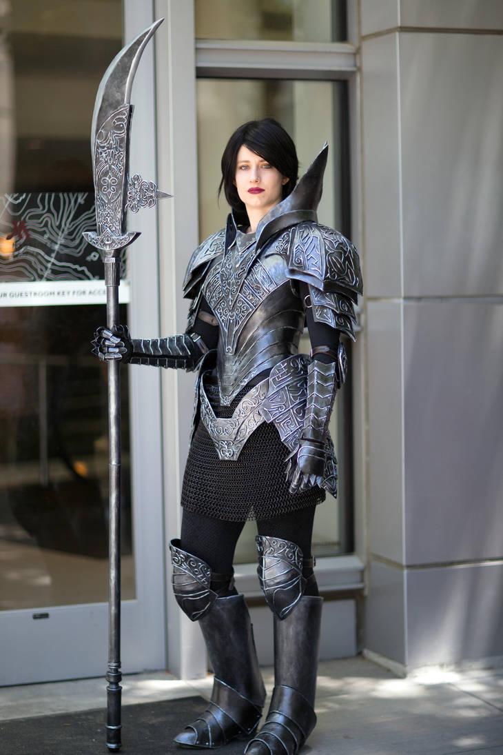 Dark Souls Black Knight Armor - Fanime 2018 by SilverIceDragon1