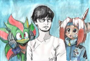 Ragevine and Lemon5ky meet Hideo Kojima by Ragevine