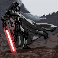 Pixel Art Time: Darth Vader by ARX-DM