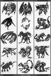 Tattoo Collage by Dusky-Hawk