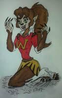 Pam the werewolf by nymeriadire