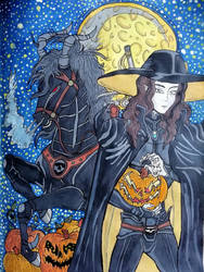 Vampire Hunter D - Halloween art trade by nymeriadire