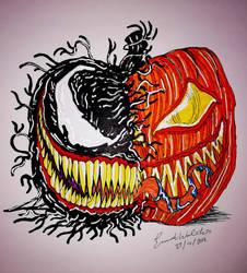 Venom pumpkin by nymeriadire