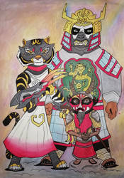 Kung Fu Masters Of Disguise by nymeriadire