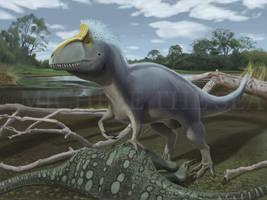 Cryolophosaurus by puntotu