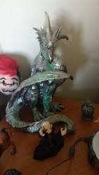 Big dragon figure by PhoenixFirewing
