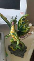 Green Jewel Dragon Figure by PhoenixFirewing