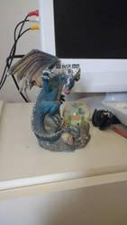 Blue Dragon figure by PhoenixFirewing