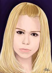 Billie Piper portrait by DANtastic-art