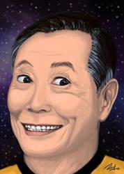 George Takei portrait by DANtastic-art