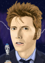 David Tennant portrait by DANtastic-art