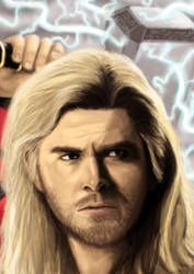 Thor portrait by DANtastic-art