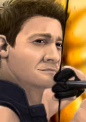 Hawkeye portrait by DANtastic-art