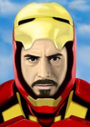 Ironman portrait by DANtastic-art
