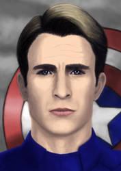 Captain america portrait by DANtastic-art