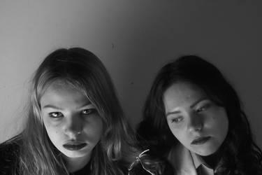 Lily and Freja Look Down by KamkoTheFireKat