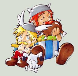 Asterix, Obelix + Idefix by Neolayn