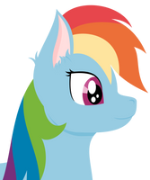 RainbowDash - Vector - Lineless by AllTimeMine