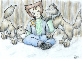 Wolverine and the wolves by Whistling