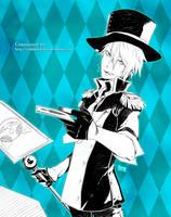 Commission: Card Throwing by HaruMaru-Shi