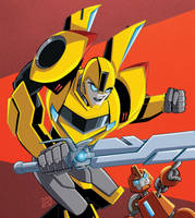 RiD Bumblebee and Fixit by MachSabre