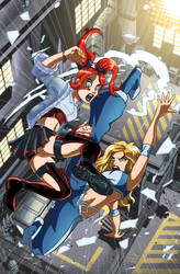 Ultragirl v. Valentine by MachSabre
