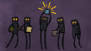 Minecraft - Endermen by Malliya