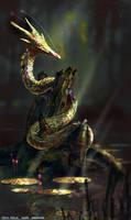 Swamp Dragonling by BastaMarcin